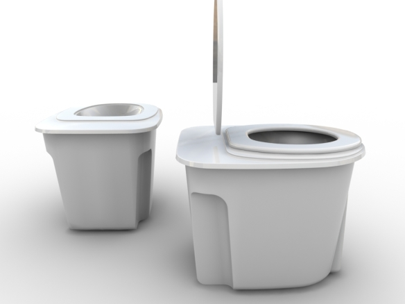 A rendering of one of our toilet concepts, courtesy of Alejandro Palandjoglou